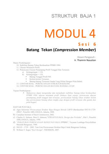 Pendahuluan ada 3 cara perhitungan yang dapat digunakan untuk merencanakan struktur baja 1. Struktur Baja 1 Modul 4 WordPress Free Download Pdf