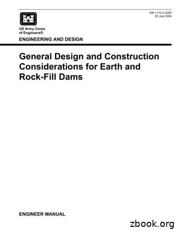 General Design And Construction Considerations For Earth