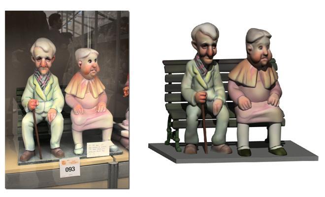 Ejemplo. Ninots esculpidos a partir de una foto.