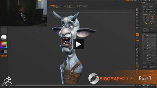 Imagen del primer video. Extraída de ZBrushCentral.