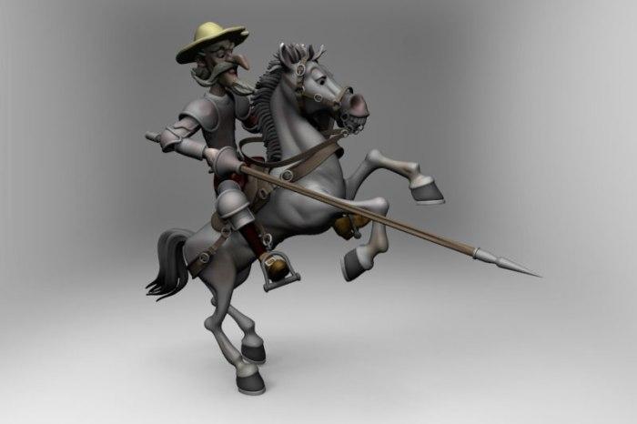 El Quijote en KeyShot