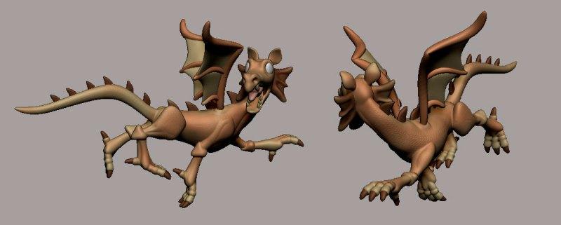 El dragoncillo huyendo del Caballero de la Triste Figura...