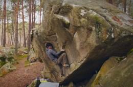 "Kevin Lopata, ""Misti"" 8c, bloc extrême à Fontainebleau"