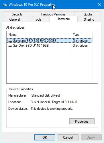 Vérifiez si votre PC dispose d'un SSD à l'aide de l'Explorateur de fichiers