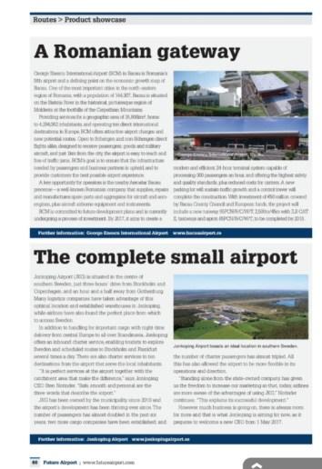 Articolul apărut în revista Future Airport