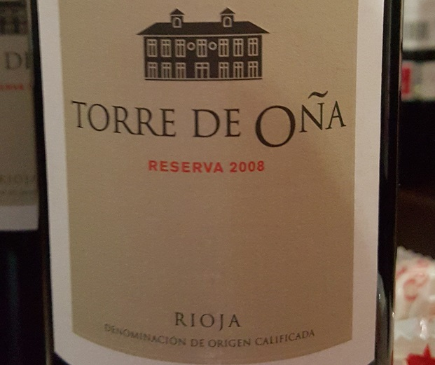 LA Rioja Alta Torre de Oña Reserva 2008