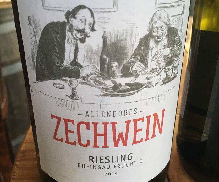 Wino na lato_Allendorf Zechwein Riesling Rheingau Fruchtig 2014