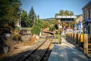 Zastávka Praha - Hlubočepy na trati 173. Foto: Jan Sůra