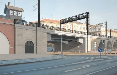 Negrelliho viadukt po rekonstrukci, vizualizace. Autor: SŽDC