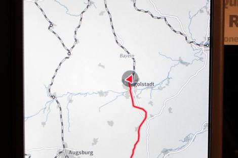 Zatím vše idylicky podle plánu - po průjezdu přes Ingolstadt a v rychlosti 176 km/h. Foto: David Krásenský