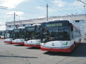 Poslední dodané trolejbusy pro Opavu v roce 2015. Foto: MDPO