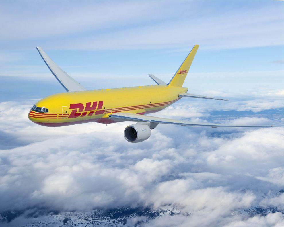 Boeing 777F v nátěru pro DHL. Firma si objednala u Boeingu 14 těchto strojů, na dalších sedm má opci. Foto: DHL