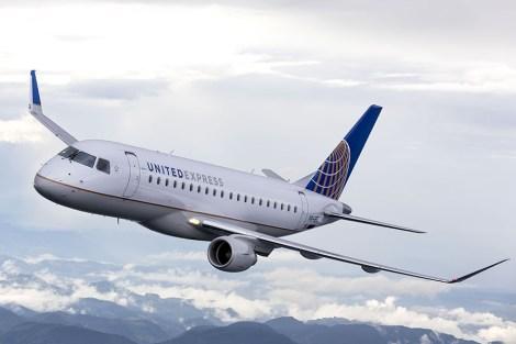 25 letadel Embaer E-175 nakupují United Airlines. Hodnota kontraktu je podle ceníkových cen 1,1 miliardy dolarů. Americké aerolinky kupují verzi se 70 sedačkami. Foto: Embraer