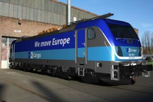 Vizualizace lokomotivy Traxx MS3 v barvách ČD Cargo. Pramen: ČD Cargo