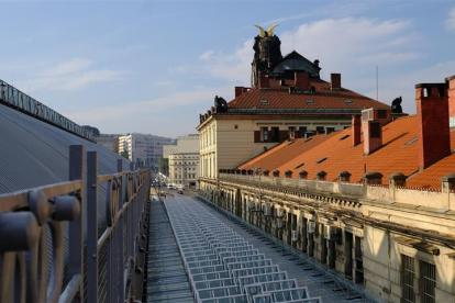 Zastřešení pražského hlavního nádraží po rekonstrukci. Foto: Metrostav