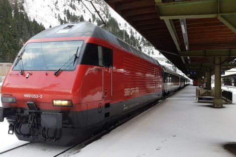 Gotthardská dráha v zimě. Foto. archív Vincenza di Pasqualeho
