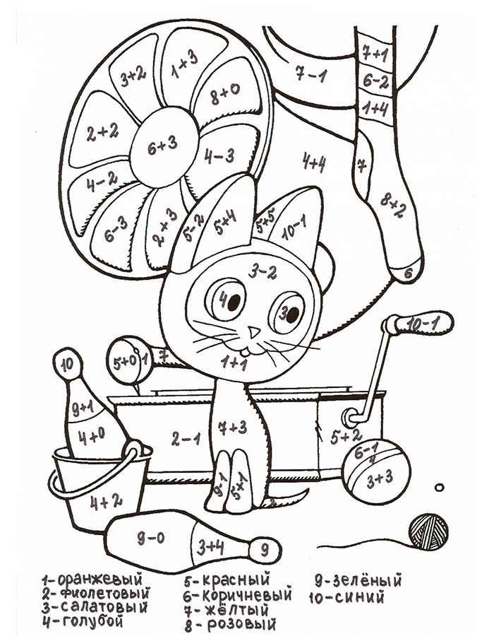 Математичні розмальовки — Zdorovia