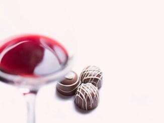 шоколад и вино