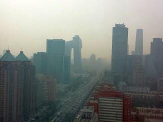 смог в Пекин