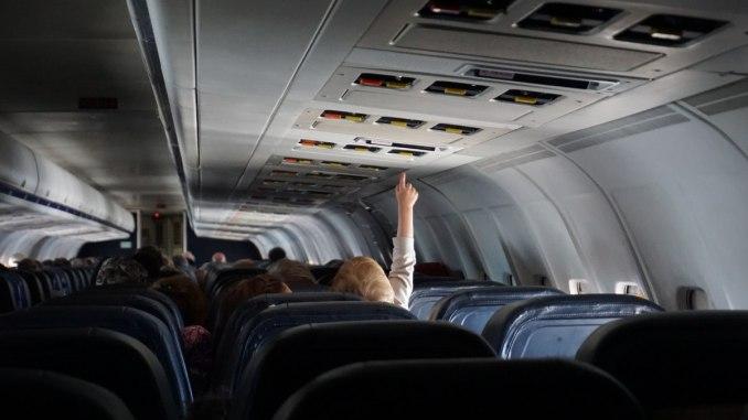 пътници в самолет