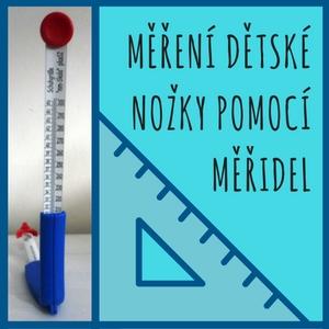 měření dětské nohy měřidlem
