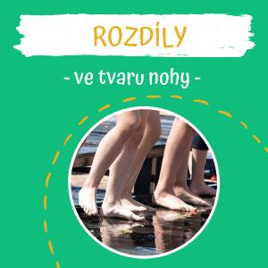 Rozdíly ve tvaru dětské nohy