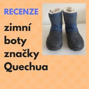 recenze zimní boty Quechua