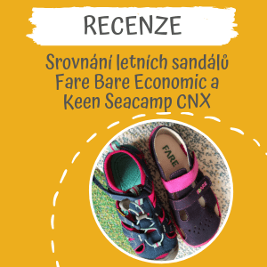 Recenze – srovnání sandálů Fare Bare Economic a Keen Seacamp CNX