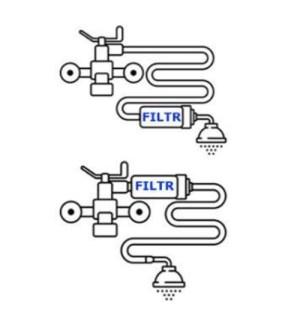 montaż filtra prysznicowego