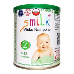 mleko następne dla niemowląt SMILK 2 400g