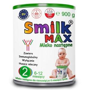 mleko następne dla niemowląt SMILK MAX 2 - 900g