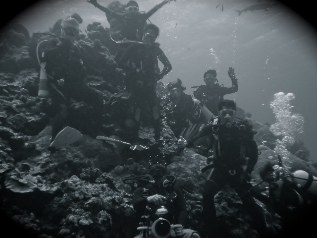 an underwater group shot in Vertigo