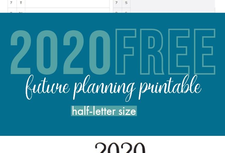 2020 Future Planning Inserts