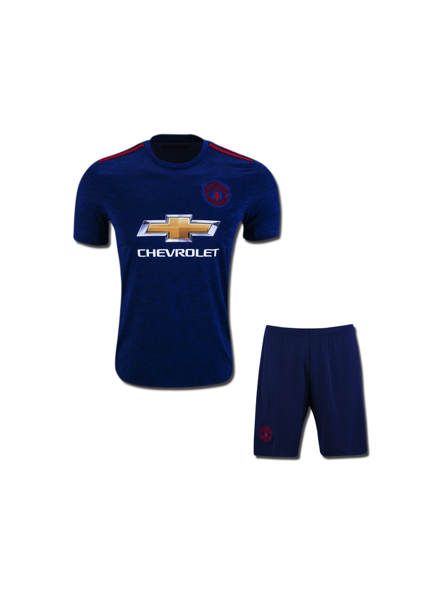 Kids Manchester United Football Jersey And Shorts Away 16 17 Season
