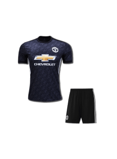 Kids-Manchester-United-Football-Jersey-and-Shorts-Away-17-18-Season