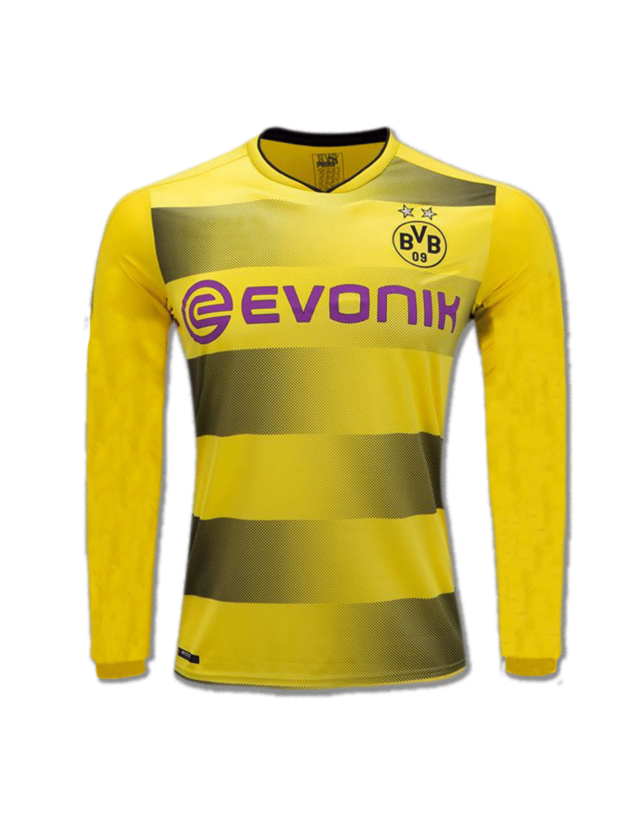 Borussia-Dortmund-Long-Sleeves-Football-Jersey-Home-17-18-Season