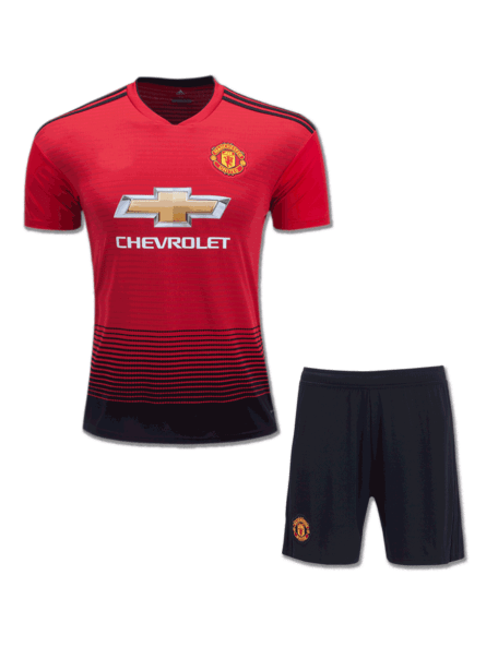 Manchester-United-Football-Jersey-And-Shorts-Home-18-19-Season