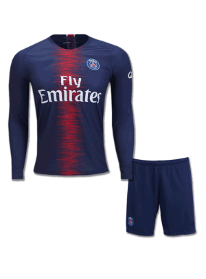 PSG-Long-Sleeves-Football-Jersey-And-Shorts-Home-18-19-Season