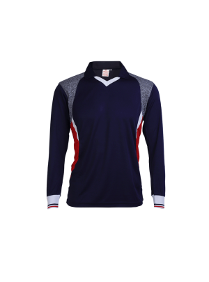 Blue-Multi-Color-Long-Sleeve-Sports-Jersey-Design-Front