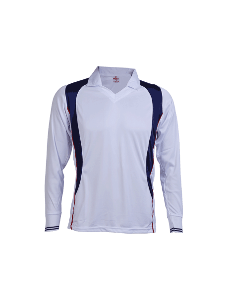 White-Multi-Color-Cricket-Long-Sleeve-Jersey-Design-Front