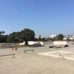 舞浜スケートパークの入り口からの眺め