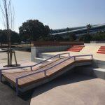 舞浜スケートパーク内ちょっと低めのキンクレール