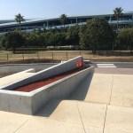 舞浜スケートパーク内のくだりバンク横のカーブ