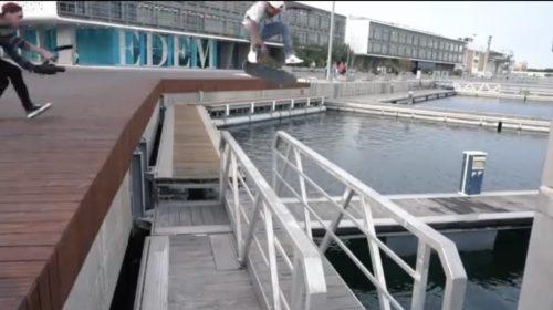 Souce:Santa Cruz Skateboarding Maurio McCoy kick Flip