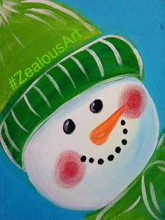 green snowman