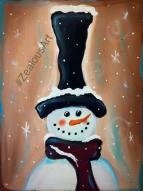 snowmanbrownblue