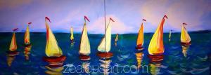 Feb 15 ~ Sailboats painting pARTy
