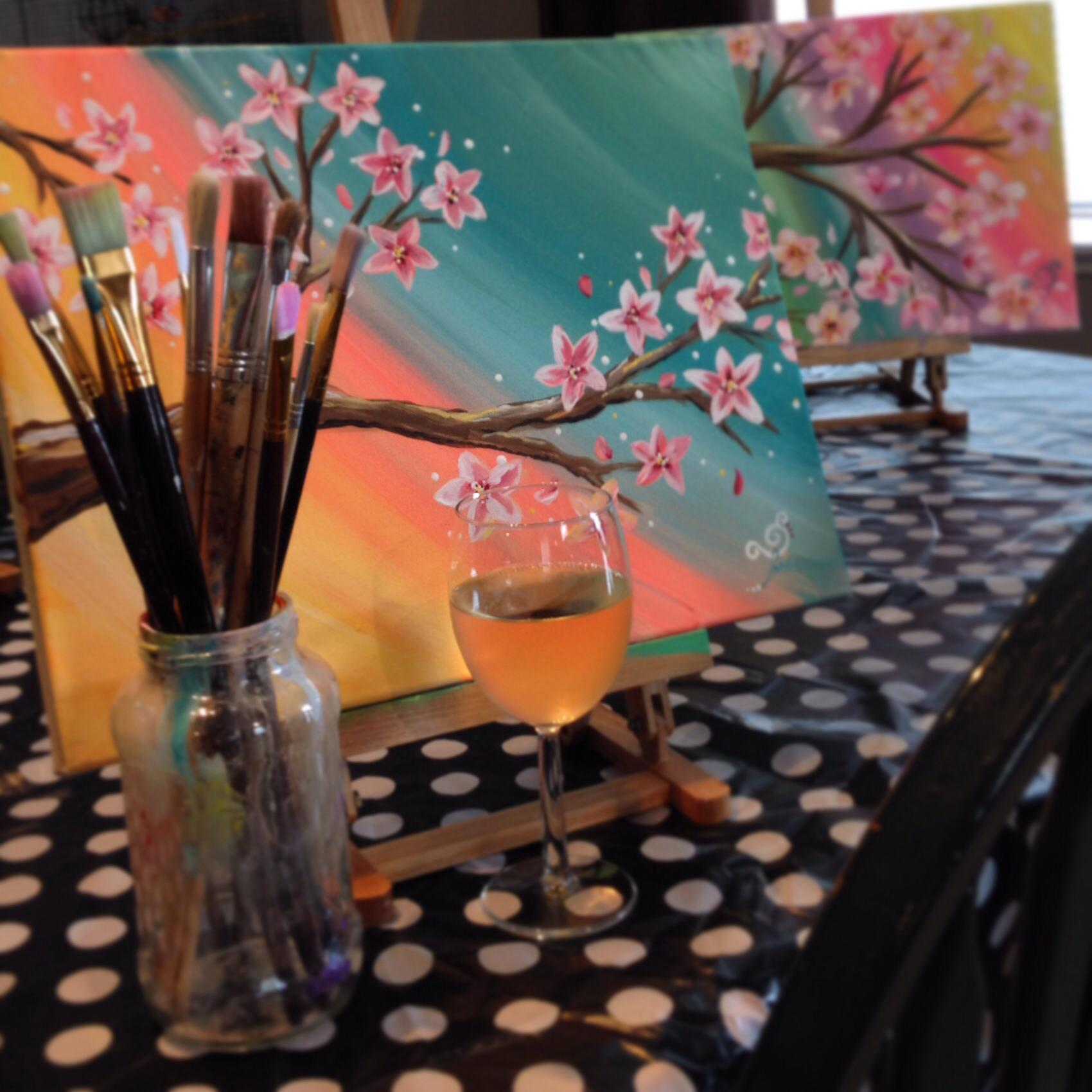 April 19 – Spring blossoms – Painting pARTy!
