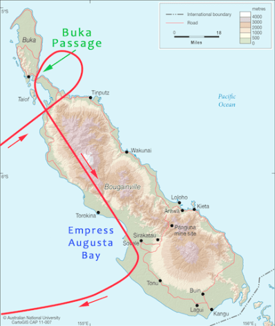 Map of 16 June 1943 flight path