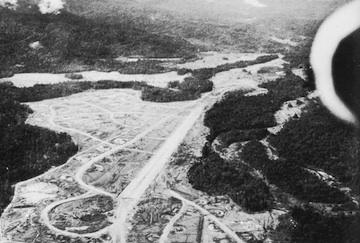 Aerial photo of Dobodura airfield